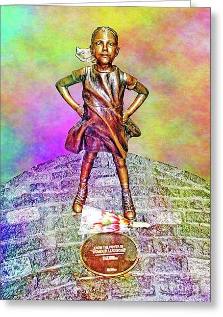 Fearless Girl 4 Greeting Card