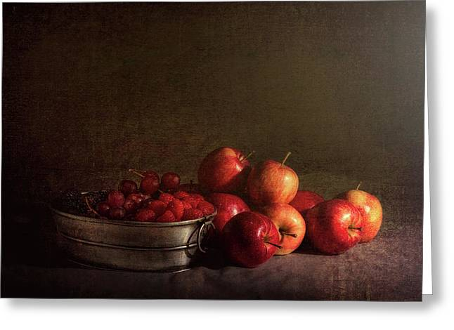 Feast Of Fruits Greeting Card by Tom Mc Nemar