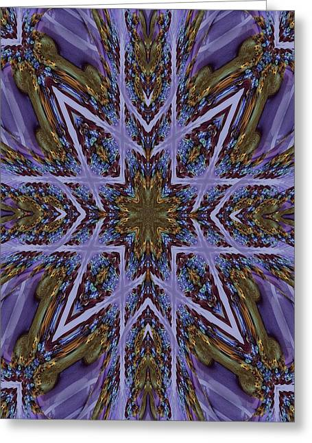 Feather Cross Greeting Card by Ricky Kendall