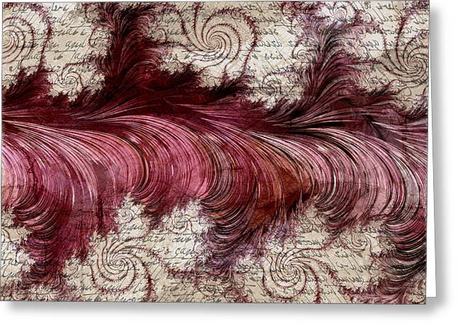 Feather From De Bergerac Greeting Card