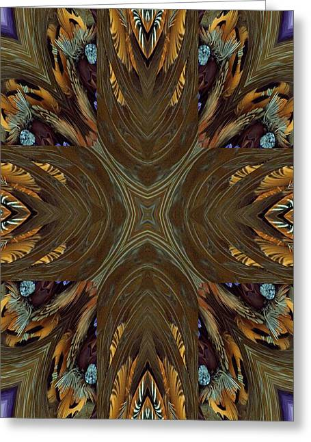 Feather Grace Greeting Card by Ricky Kendall