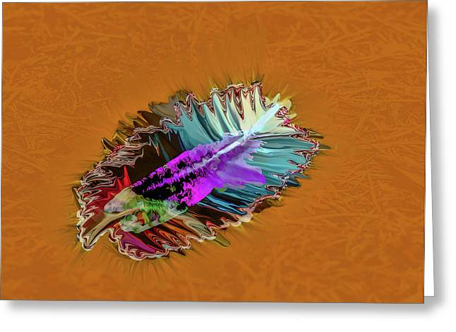 Feather #h8 Greeting Card
