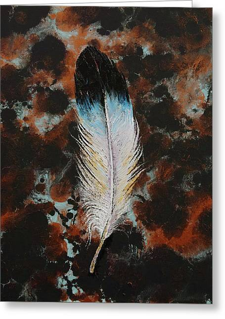 Feather Greeting Card by Michael Creese