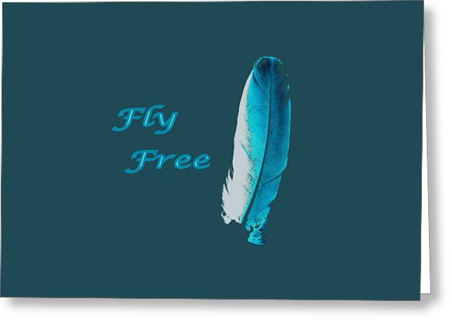 Feather Of Free Flight Greeting Card by Aliceann Carlton