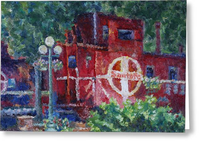 Featherbed Railroad Caboose Greeting Card
