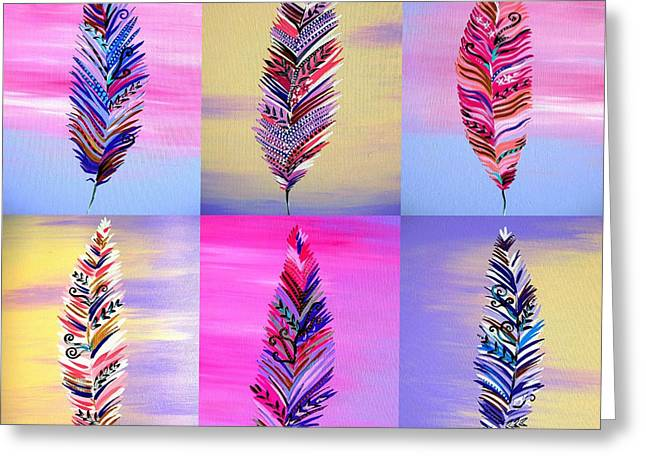 Feathers IIi Greeting Card by Cathy Jacobs