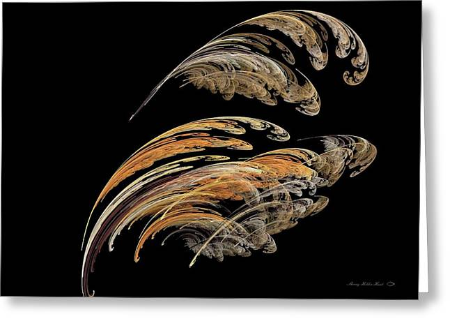 Feathers Greeting Card by Sherry Holder Hunt