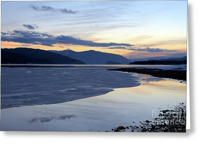 February At Dusk 5 Greeting Card by Victor K