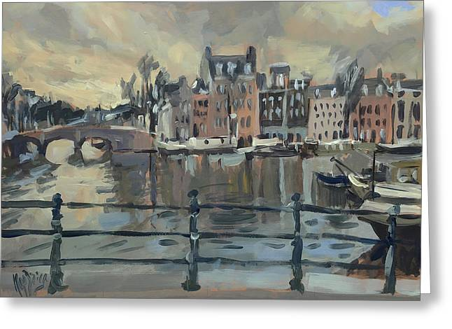 February Morning Along The Amstel Greeting Card