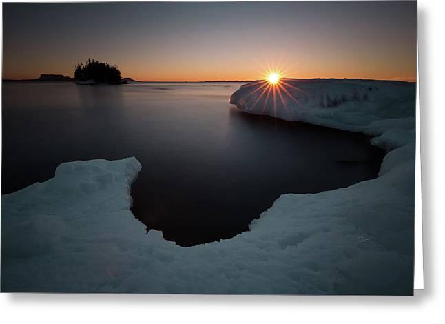 February Sunrise In Sturgeon Bay Greeting Card