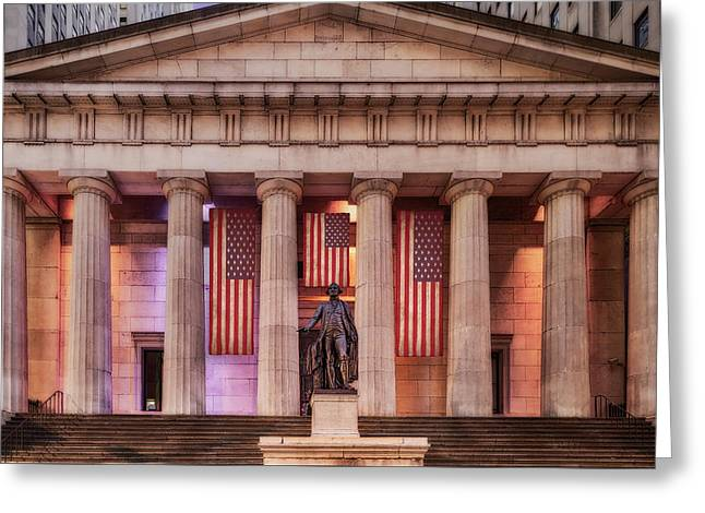 Federal Hall National Memorial Nyse Greeting Card