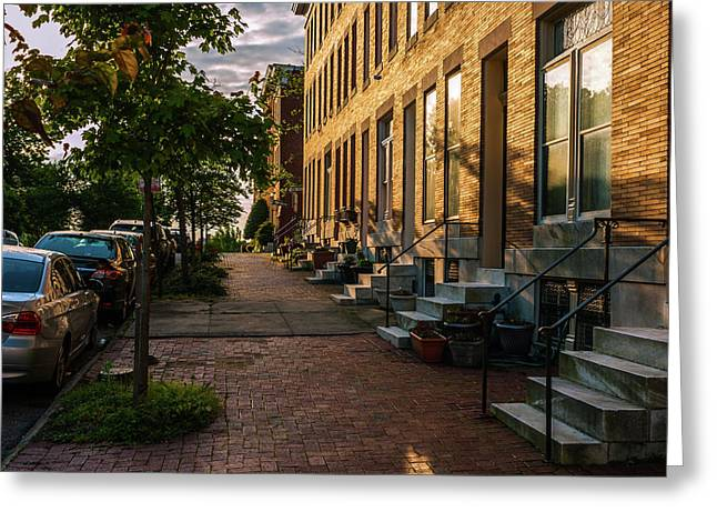 Federal Hill Steps Greeting Card