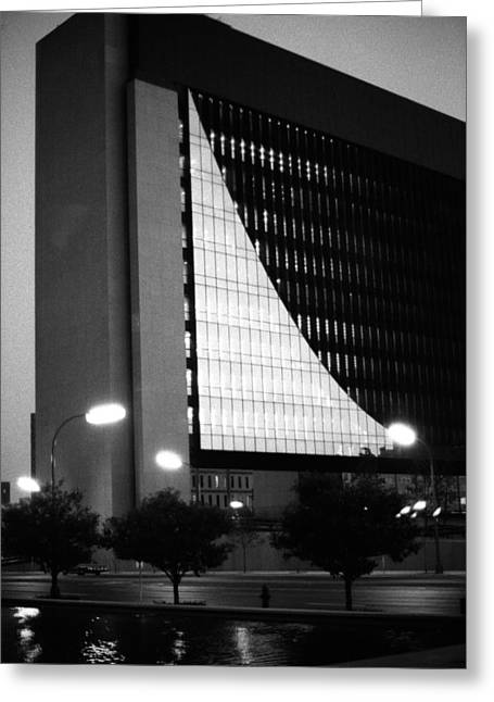 Federal Reserve Building At Twilight Greeting Card