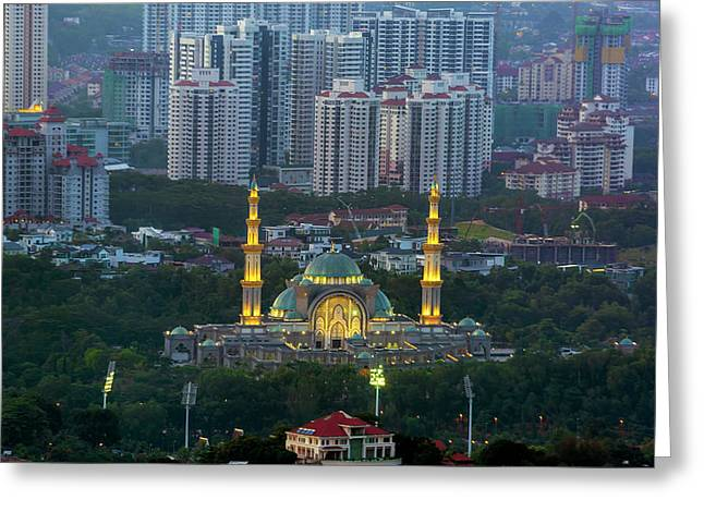 Federal Territory Mosque Greeting Card by David Gn