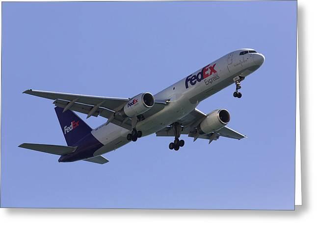 Fedex 757  Greeting Card