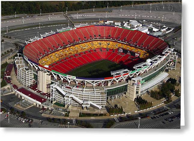 Fedex Field Redskins Stadium Greeting Card by Steve Monell