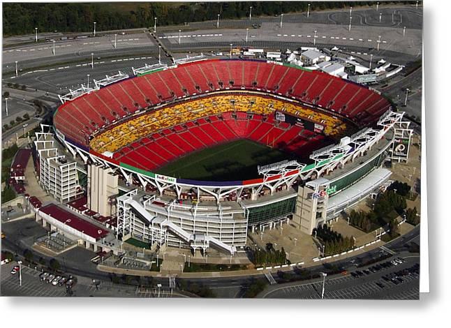 Fedex Field Redskins Stadium Greeting Card by Steve Monell