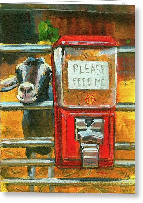 Feed Me Greeting Card