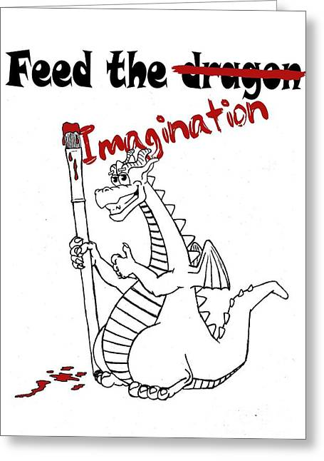 Feed The Imagination Greeting Card
