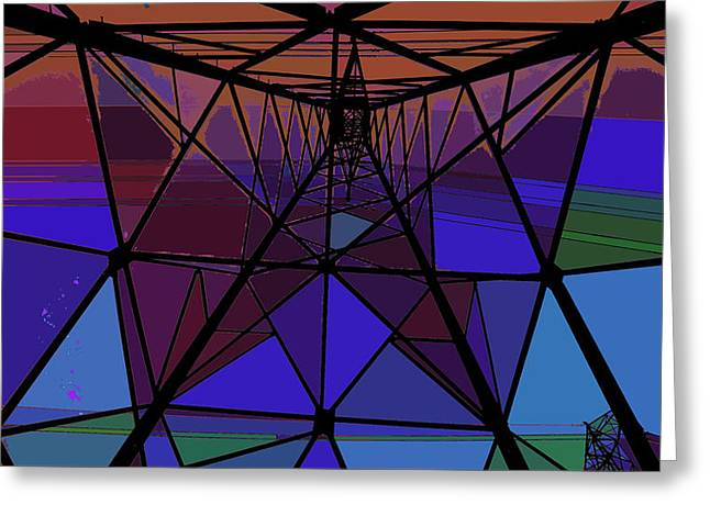 Feed To A Power Line Of Color Greeting Card by Kenneth James