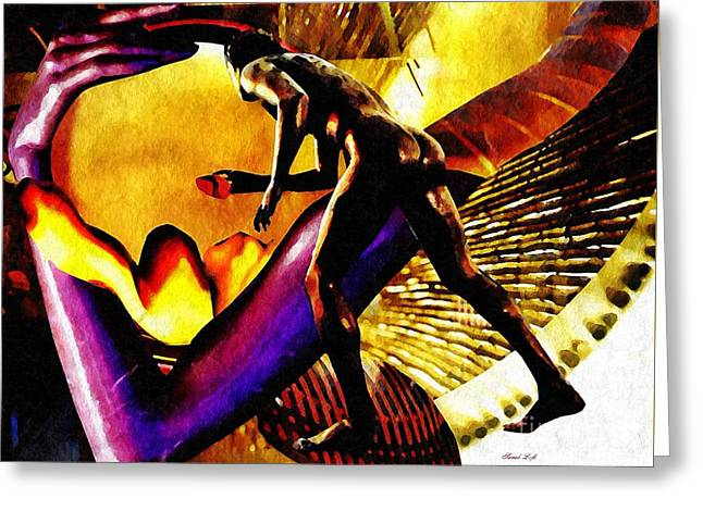 Feeding The Fire Within Greeting Card by Sarah Loft
