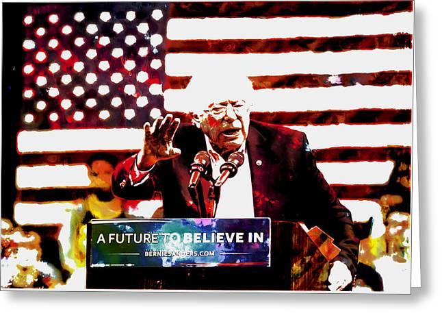 Feel The Bern 2 Greeting Card by Brian Reaves