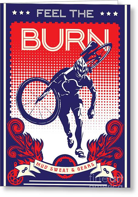 Feel The Burn Greeting Card