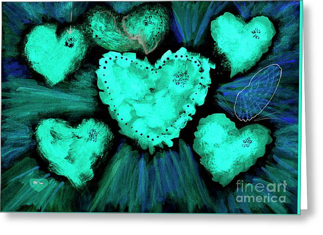 Feeling Blue Greeting Card by Dominique Fortier