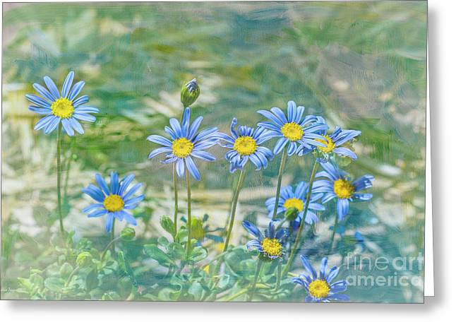 Feeling Blue Greeting Card by Elaine Teague