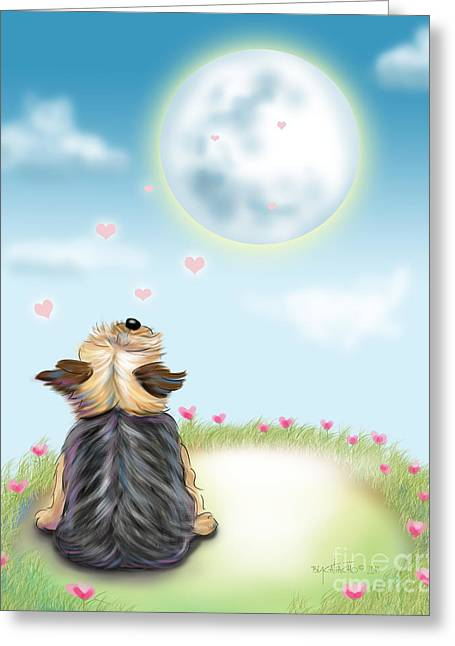 Feeling Love Greeting Card by Catia Cho