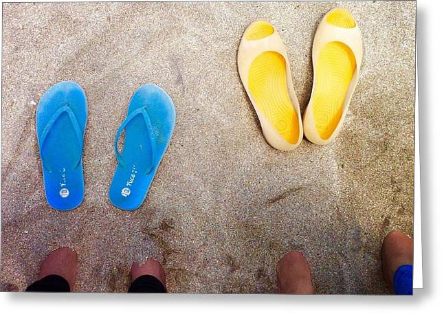 Feet Around The World #23 Greeting Card