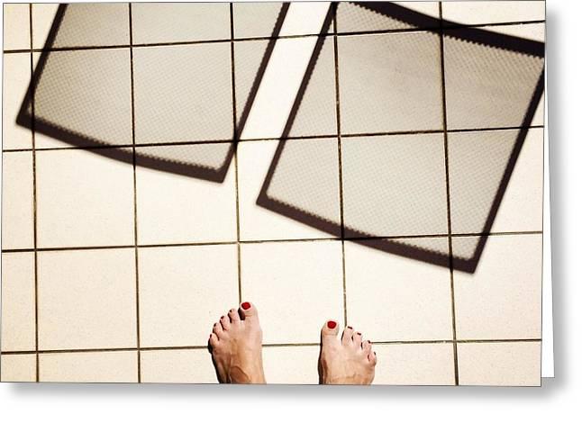 Feet Around The World #28 Greeting Card