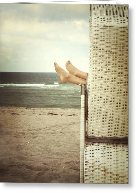 Ocean Shore Greeting Cards - Feet Greeting Card by Joana Kruse