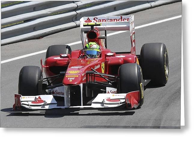 Felipe Massa Greeting Card by Art Ferrier