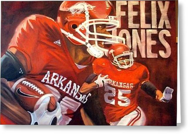 Felix Jones Greeting Card by Jim Wetherington