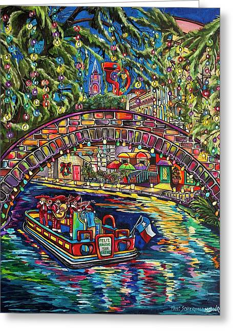 Feliz Navidad San Antonio Greeting Card by Patti Schermerhorn