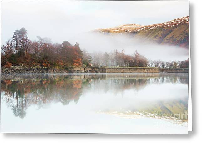 Fells In The Mist Above Thirlmere Greeting Card by Tony Higginson