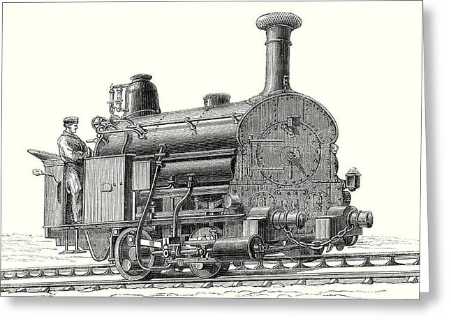 Fell's Locomotive For The Rail Central Railway Greeting Card