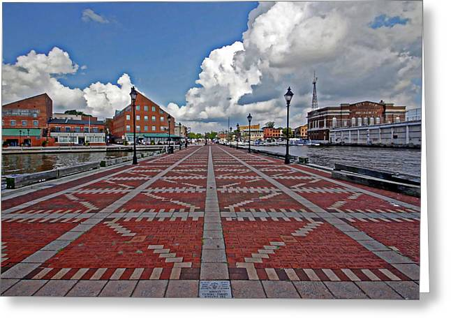 Fells Point Pier Greeting Card