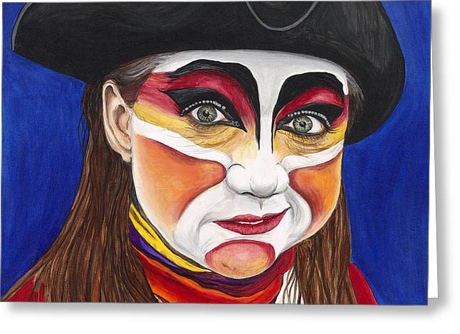 Female Carnival Pirate Greeting Card by Patty Vicknair