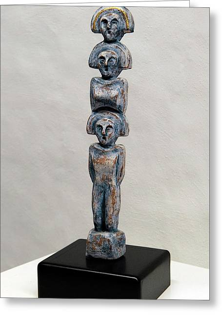 Female Figurine - Goddess Worship - Matronen - Matrone - Matrones - Matron - Nettersheim Eifel  Greeting Card