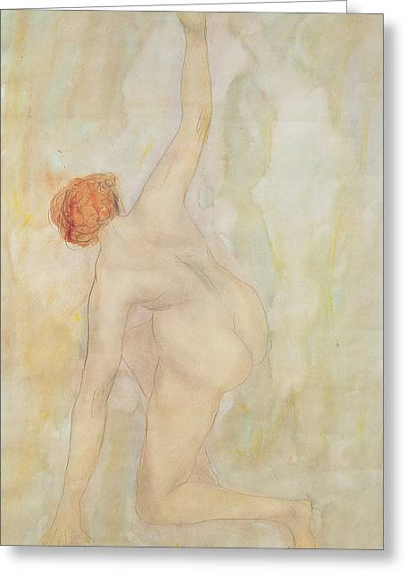 Female Nude Greeting Card by Auguste Rodin