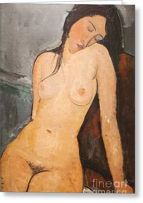 Female Nude By Amedeo Modigliani Greeting Card