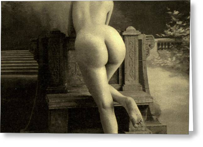 Female Nude, Circa 1900 Greeting Card by French School