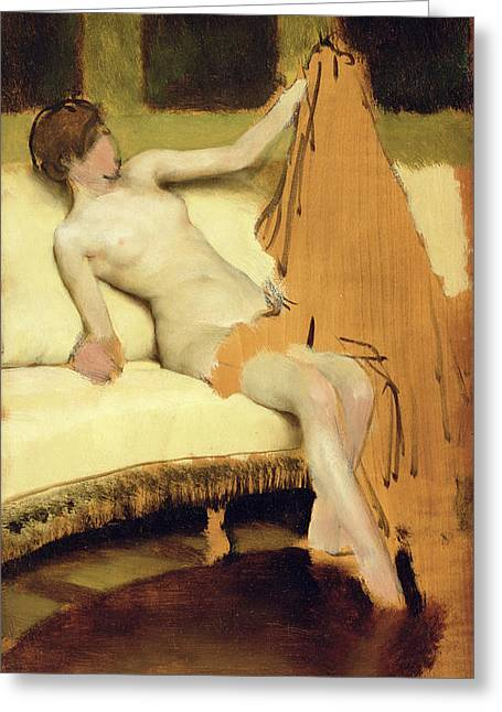 Female Nude Greeting Card by Sir Lawrence Alma-Tadema