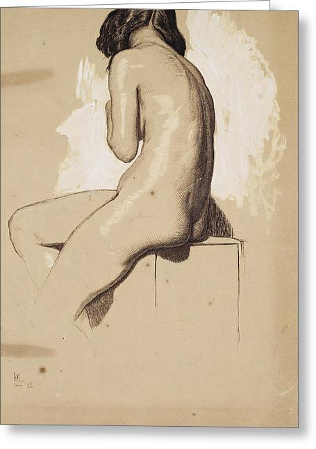 Female Nude - Study From Behind Greeting Card