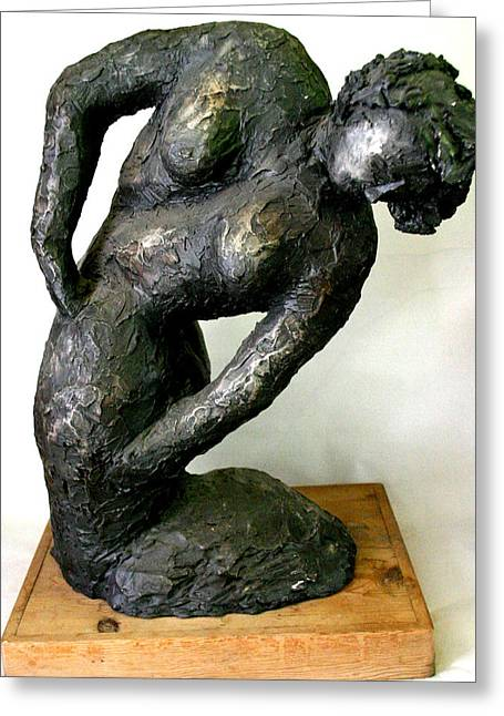 People Sculptures Greeting Cards - Female Torso Greeting Card by Gideon Cohn
