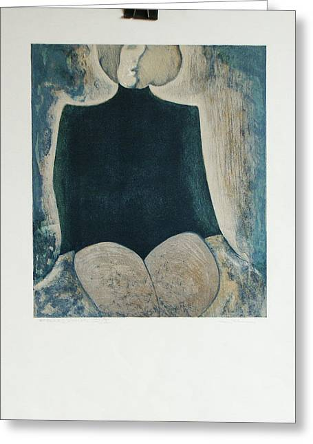 Femme Assise Greeting Card by James LeGros