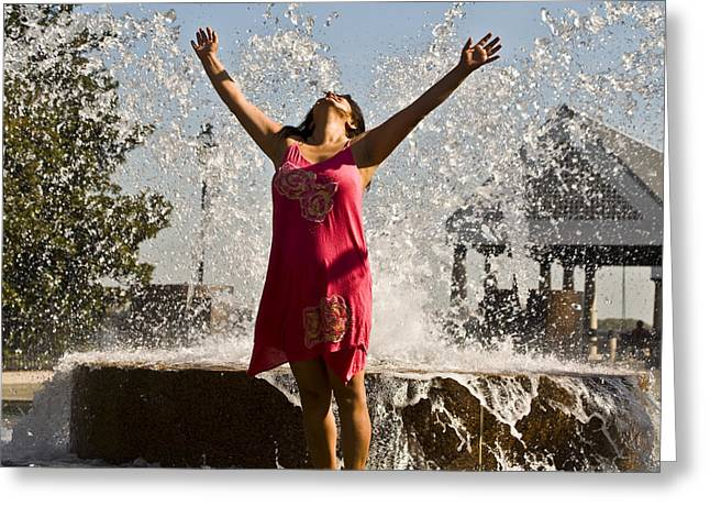 Al Powell Photography Usa Greeting Cards - Femme Fountain Greeting Card by Al Powell Photography USA