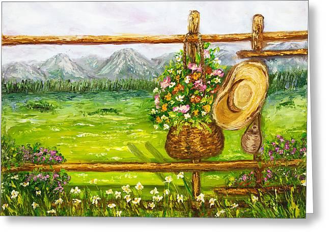Fence Greeting Card by Boyan Dimitrov